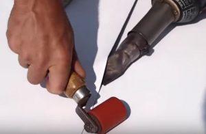 Sealing TPO Seams with Hot Gun VA Flat Roofers Chesapeake